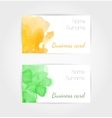 set watercolor business cards template vector image vector image