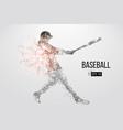 silhouette a baseball player vector image vector image