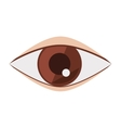 silhouette eye brown flat icon vector image vector image