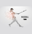silhouette of a baseball player vector image vector image