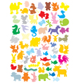 Silhouettes of animals vector | Price: 1 Credit (USD $1)