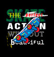 skater t shirt art vector image