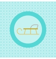 Sledge flat icon vector image vector image