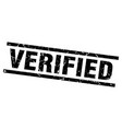 square grunge black verified stamp vector image vector image