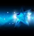 star with technology background vector image vector image