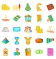 stocktaking icons set cartoon style vector image