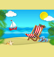 summer beach paper cut vector image vector image