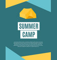 summer camping nature background in modern flat vector image vector image
