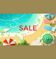 summer sale announcement on beach vector image vector image