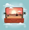 summer vacation in winter planning winter vector image