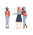 teenagers bullying and offending other girl flat vector image vector image