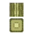 Texture for platformers pixel art - green vector image