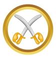 Toy swords icon vector image vector image