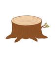 tree trunk cut icon vector image