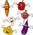 vegetable cartoon character vector image