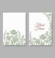 vintage botanical card frame vector image