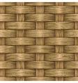 vintage wooden basket vector image vector image
