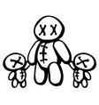 voodoo doll twins parent vector image