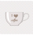 white cup on transparent background vector image