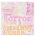 Works From the True Masters of Fear and Anxiety vector image vector image