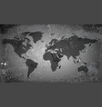 World map on grunge background vector image vector image