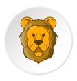 Face of a lion icon cartoon style vector image