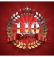 Celebrative Golden Badge for 110th Anniversary vector image