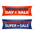 Memorial Day sale banners vector image