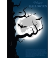 Halloween background with tree vector image