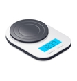 Kitchen scales isometric icon vector image
