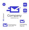 mail service logo modern letter in envelope vector image