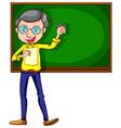 A sketch of a male teacher vector image vector image