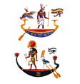 Ancient egypt sun god ra or horus cartoon