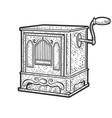 barrel organ sketch vector image
