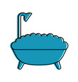 bathtub service isolated icon vector image