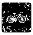 Bike icon grunge style vector image vector image