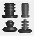 bolt set icon vector image vector image