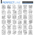 business project outline concept symbols strategy vector image vector image