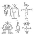 cartoon robot set03 vector image