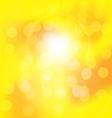 Centered yellow orange summer sun light burst vector image vector image