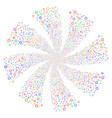 cogwheel fireworks swirl flower vector image vector image