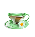 cup of tea with chamomile vector image