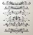 decorative page design 3 vector image vector image