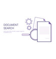 document search business concept template web vector image