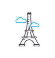 eiffel tower linear icon concept eiffel tower vector image vector image