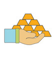 financial gold elements in the hand vector image