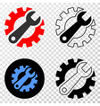 gear tools eps icon with contour version vector image