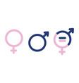 gender symbols male female sex sign vector image vector image