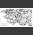 genoa italy city map in retro style outline map vector image vector image