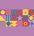 geometric pattern background flat design vector image vector image